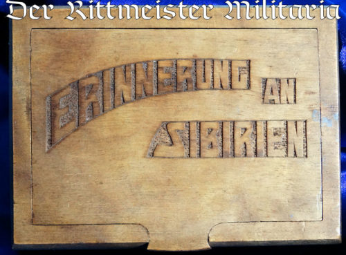 XFB CIGARETTE BOX COMMEMORATING POST WW I SERVICE IN SIBERIA - Imperial German Military Antiques Sale