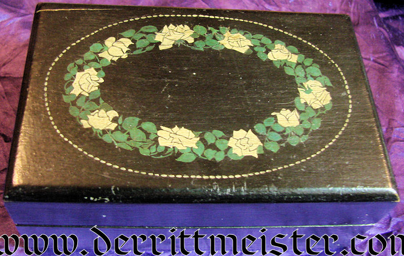 STORAGE BOX - ROSE MOTIF - Imperial German Military Antiques Sale