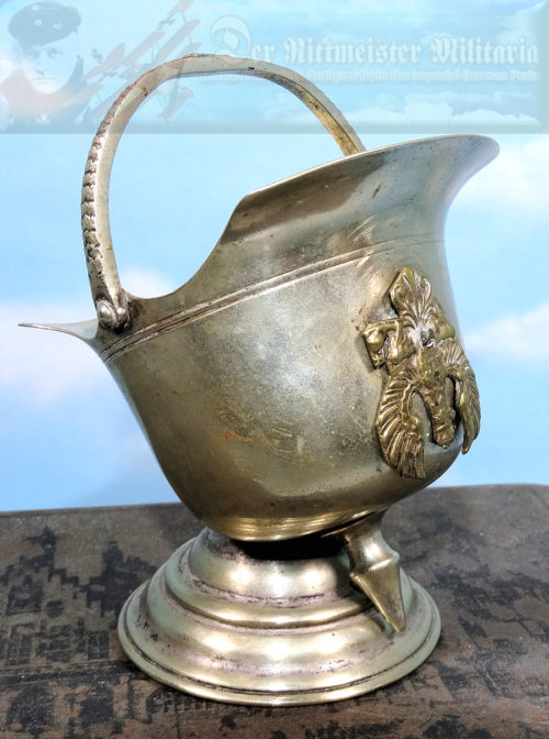 DESK PIECE  - MINIATURE PICKELHAUBE - Imperial German Military Antiques Sale