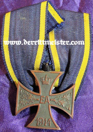 DOCUMENT AND DECORATION - WAR SERVICE CROSS 2nd CLASS - BRAUNSCHWEIG - Imperial German Military Antiques Sale