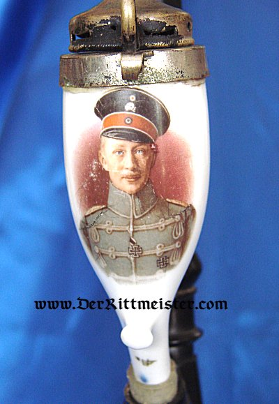 CHRISTMAS PIPE AND FRAMED DOCUMENT - KRONPRINZ WILHELM - Imperial German Military Antiques Sale