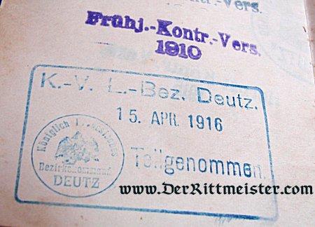 MILITÄRPAß TO A MAN SERVING IN INFANTERIE-REGIMENT Nr 65 - Imperial German Military Antiques Sale