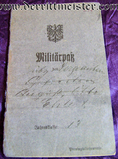 MILITÄRPAß - INFANTERIE-REGIMENT Nr 152 - PRUSSIA - Imperial German Military Antiques Sale