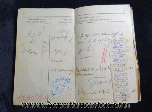 INFANTERIE-REGIMENT Nr 164 MILITÄRPAß - PRUSSIA - Imperial German Military Antiques Sale