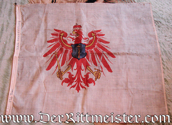 BATTLESHIP (LINIENSCHIFF) S. M. S. BRANDENBURG'S FLAG - Imperial German Military Antiques Sale