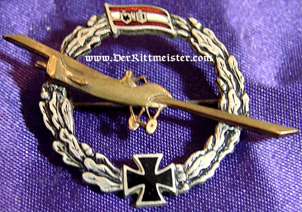 ENAMEL AUSTRIAN PATRIOTIC PIN - MONOPLANE - Imperial German Military Antiques Sale