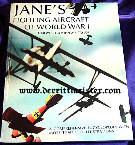 BOOK - ANE'S FIGHTING AIRCRAFT OF WW I by JOHN W.R. TAYLOR - Imperial German Military Antiques Sale