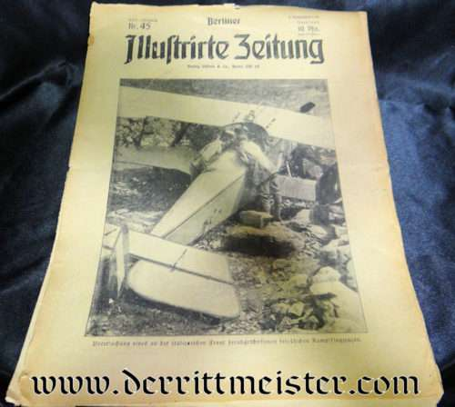 BERLINER ILLUSTRIRTE ZEITUNG 5 NOVEMBER 1916 - Imperial German Military Antiques Sale