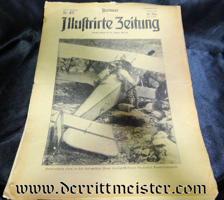 NEWSPAPER - BERLINER ILLUSTRIRTE ZEITUNG 5 NOVEMBER 1916 - Imperial German Military Antiques Sale