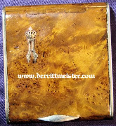 PRESENTATION CIGARETTE CASE - PRINZ ADALBERT von PREUßEN - Imperial German Military Antiques Sale