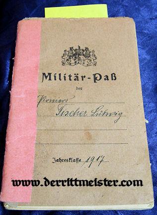 MILITÄRPAß - BAVARIAN LUFTSCHIFFER ERSATZ ABTEILUNG - Imperial German Military Antiques Sale