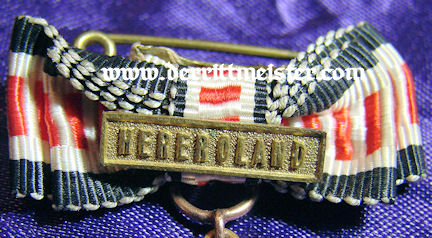 COMBATANT MEDAL WITH SPANGE - MINIATURE - SOUTHWEST AFRICA - Imperial German Military Antiques Sale