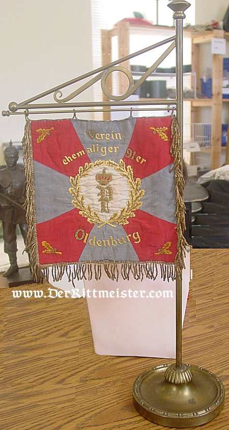 BANNER - OLDENBURG - VETERANS ASSOCIATION - INFANTRY-REGIMENT Nr 91 - Imperial German Military Antiques Sale