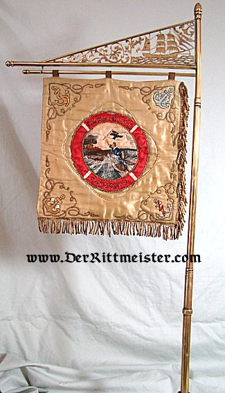 BANNER - NAVY VETERAN ASSOCIATION - Imperial German Military Antiques Sale