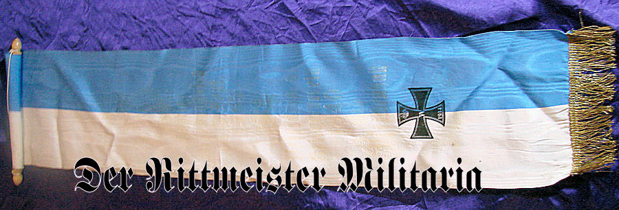 BAVARIAN WW I VETERANS' GROUP MINI BANNER - Imperial German Military Antiques Sale