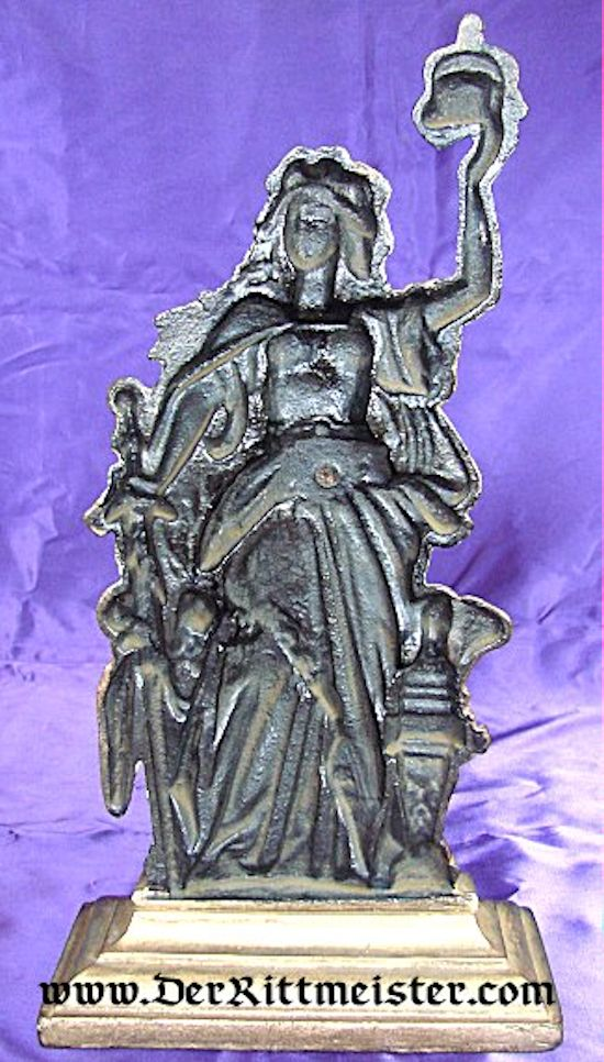 STATUE - GERMANIA - GERMANY'S PROTECTOR - Imperial German Military Antiques Sale