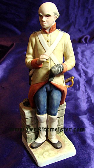 PORCELAIN FIGURINE - 18TH CENTURY OFFICER - GOEBEL - Imperial German Military Antiques Sale