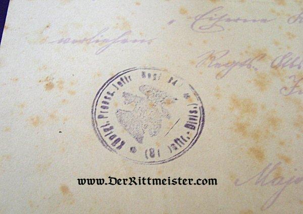 DOCUMENT GROUP - FELDWEBEL LÜDERS - Imperial German Military Antiques Sale
