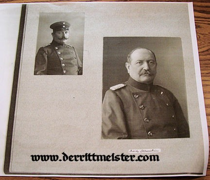 OFFICER'S DOCUMENT GROUP - MORITZ SCHLEENSTEIN - Imperial German Military Antiques Sale