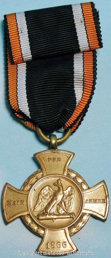 1866 AUSTRO-PRUSSIAN WAR DER MAIN ARMEE MEDAL - PRUSSIA - Imperial German Military Antiques Sale