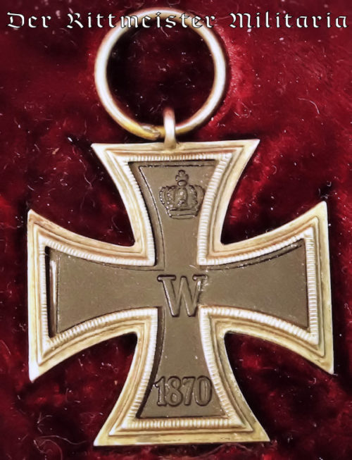 PRINZENGROßE 1870 IRON CROSS 2ND CLASS WITH ORIGINAL PRESENTATION CASE - Imperial German Military Antiques Sale