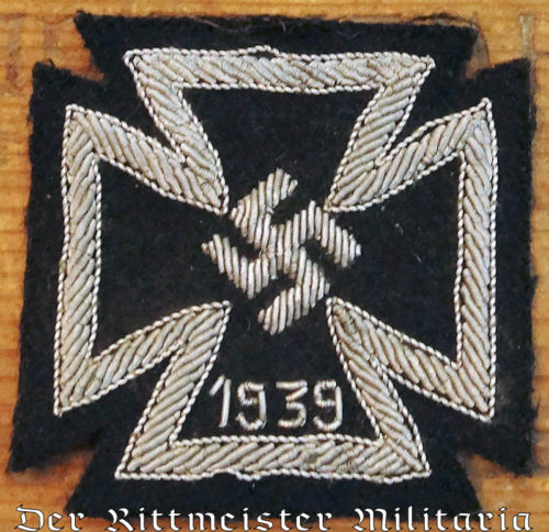 CLOTH 1939 IRON CROSS 1ST CLASS - Imperial German Military Antiques Sale