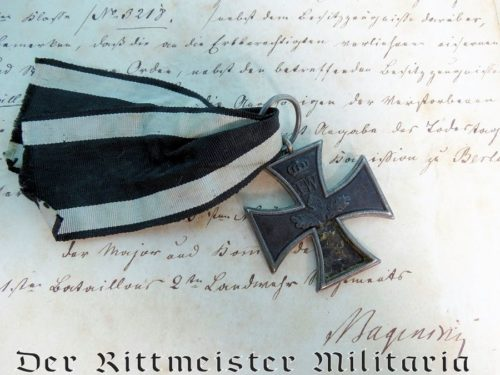 1813 IRON CROSS 2nd CLASS WITH DOCUMENTATION, INCLUDING AWARD DOCUMENT - Imperial German Military Antiques Sale