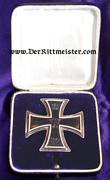 IRON CROSS - 1914 - 1st CLASS HIGH VAULTED - ORIGINAL PRESENTATION CASE. - Imperial German Military Antiques Sale