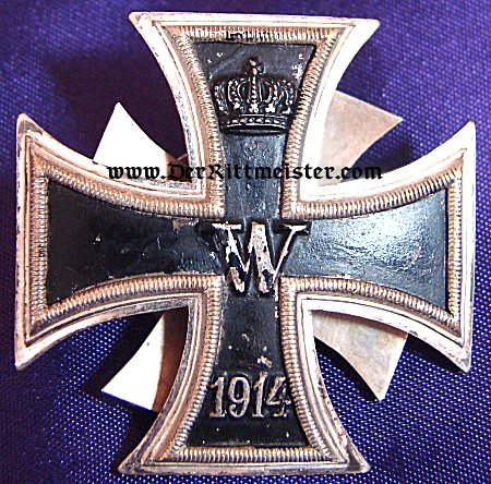 1914 IRON CROSS 1st CLASS THREE PIECE SCREWBACK - Imperial German Military Antiques Sale
