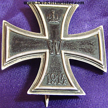"NON VAULTED 1914 IRON CROSS 1st CLASS WITH ""CD"" AND .800 SILVER HALLMARKS - Imperial German Military Antiques Sale"
