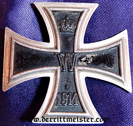IRON CROSS - 1st CLASS - 1914  - K.A.G. - Imperial German Military Antiques Sale