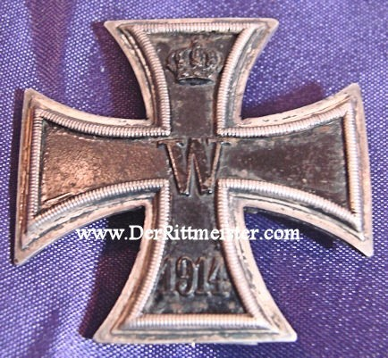 1914 IRON CROSS 1st CLASS - LOW-VAULTED. This is a very low-vaulted 1914 Iron Cross 1st Class - Imperial German Military Antiques Sale