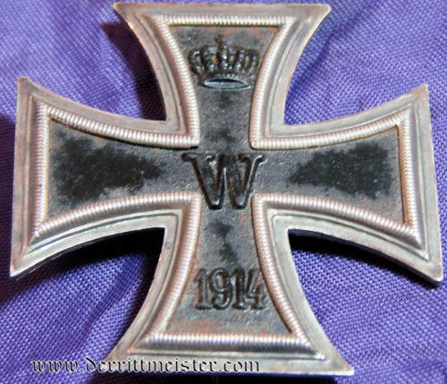 IRON CROSS - 1st CLASS - 1914 - NON VAULTED - Imperial German Military Antiques Sale
