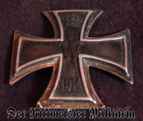 1914 IRON CROSS 1st CLASS - HIGH VAULTED - .800 SILVER - ORIGINAL PRESENTATION CASE - Imperial German Military Antiques Sale