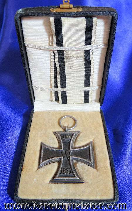 IRON CROSS - 1870 - 2nd CLASS - NON COMBATANT'S  - PRESENTATION CASE - Imperial German Military Antiques Sale