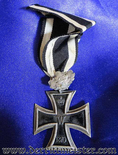 IRON CROSS - 1870 - 2nd CLASS WITH 25-YEAR OAK LEAVES - PRINZENGROßE - Imperial German Military Antiques Sale