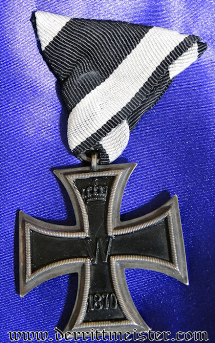 1870 IRON CROSS WITH TRI-FOLD RIBBON - Imperial German Military Antiques Sale