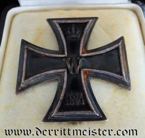 1914 IRON CROSS 1st CLASS - K.A.G. WITH ORIGINAL PRESENTATION CASE - Imperial German Military Antiques Sale