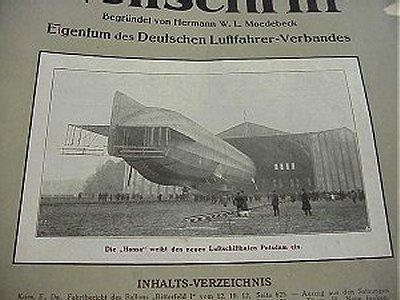 DEUTSCHE LUFTFAHRER ZEITSCHRIFT - Imperial German Military Antiques Sale