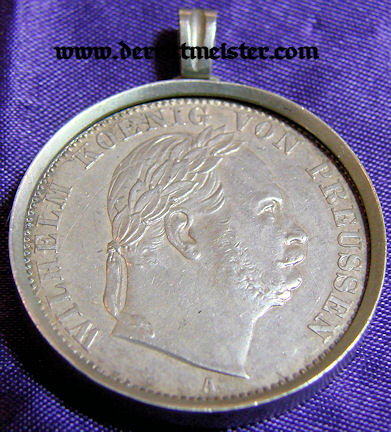 SILVER PENDANT SILVER COIN KÖNIG WILHELM I PRUSSIA
