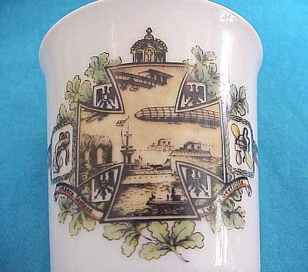 PATRIOTIC CUP FOR THE AIR SERVICE, LUFTSCHIFFER SERVICE, AND THE KAISERLICHE MARINE - Imperial German Military Antiques Sale