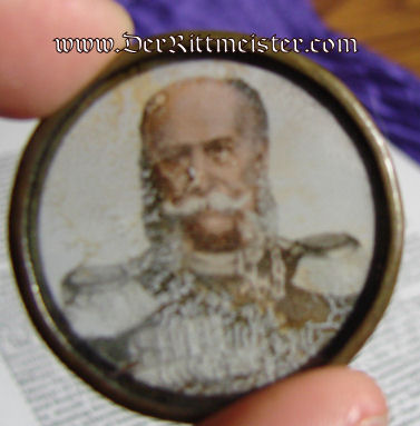PATRIOTIC PIECE - FULL-COLOR GLASS  - KAISER WILHELM I - Imperial German Military Antiques Sale