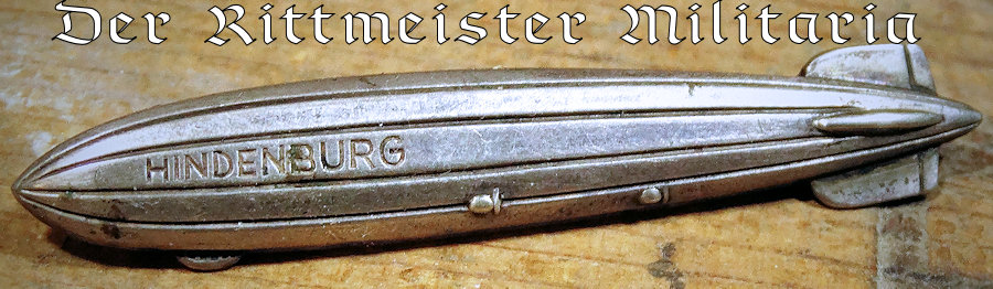 HINDENBURG ZEPPELIN PIN - Imperial German Military Antiques Sale