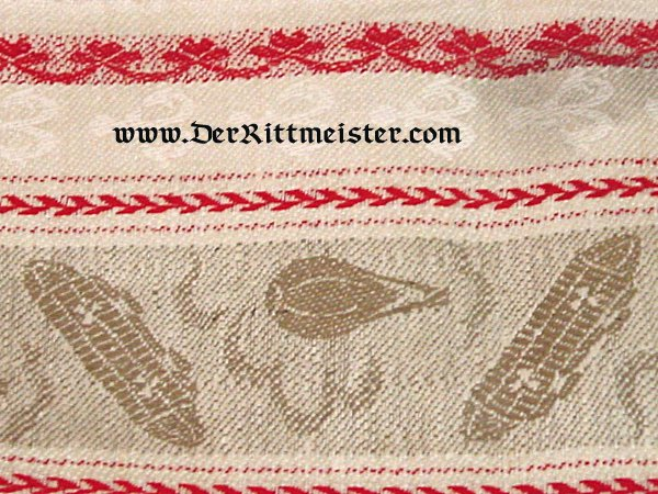 ZEPPELIN GUEST'S HAND TOWEL - Imperial German Military Antiques Sale
