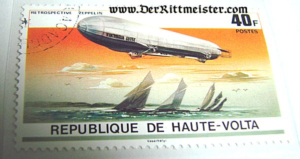 THREE POSTAGE STAMP SET - EARLY ZEPPELINS - REPUBLIC OF VOLTA - Imperial German Military Antiques Sale