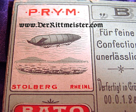HOOK AND EYE CARD - ZEPPELIN - Imperial German Military Antiques Sale
