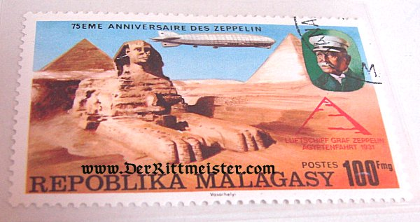 THREE-STAMP SET - ZEPPELINS - REPUBLIC OF MALAGASY - Imperial German Military Antiques Sale