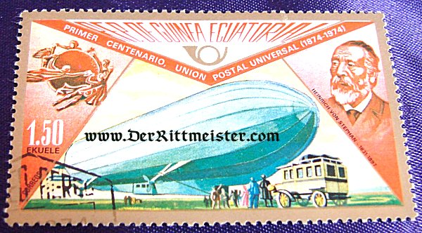 SINGLE STAMP - ZEPPELIN - REPUBLIC OF EQUATORIAL GUINEA - Imperial German Military Antiques Sale