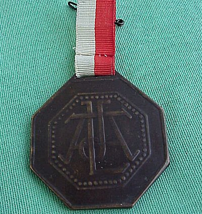 ZEPPELIN OCTAGONAL BRONZE MEDALLION. - Imperial German Military Antiques Sale