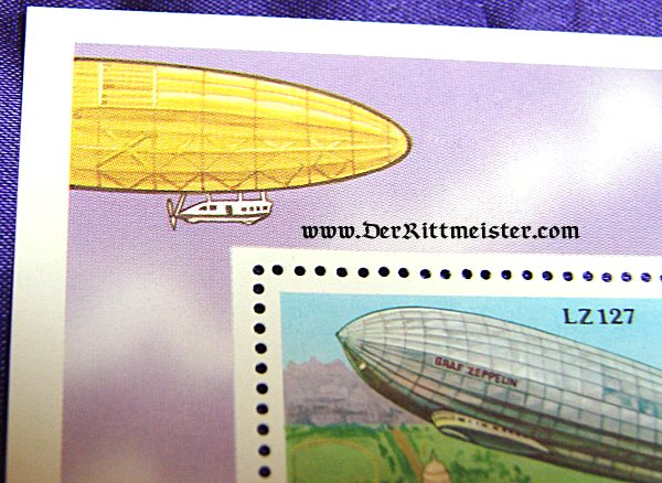 SPECIAL EDITION STAMP HONORING LZ-127 - REPUBLIC CONGO - Imperial German Military Antiques Sale